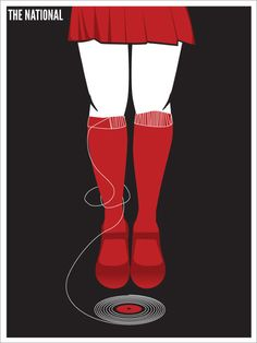 The National band poster. I LOVE THIS.
