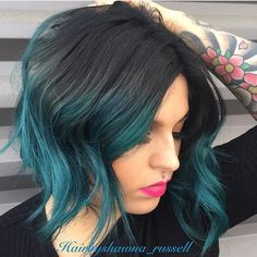 """2,961 Likes, 81 Comments - Dope Hair  Hairstyles Boston (@imallaboutdahair) on Instagram: """"Black Teal ♠️ @hairbyshawna_russell ♠️♠️♠️"""""""