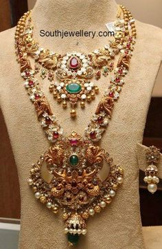 pacchi necklace haram set 391x600 photoDeepika. dks Pinboard trails