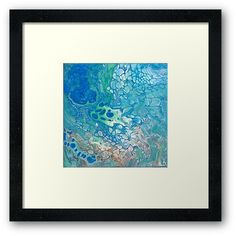 'Submerged II Fluid Art Painting' Framed Print by lukedwyerartist Wall Prints, Framed Art Prints, Coastal Art, Buy Art Online, Beach Art, Art Auction, Painting Frames, American Art, Abstract Art