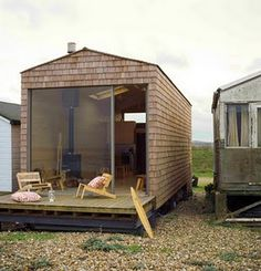 Beach Hut, Whitstable, England. This would have to have curtains or blinds for sure!
