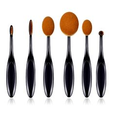 Makeup brushes, Sunmy Makeup Brush Set 6 Pieces Professional Toothbrush Face Foundation Eyebrow Eyeliner Lip Powder Oval Brushes Tool ** You can find out more details at the link of the image. (Note:Amazon affiliate link)