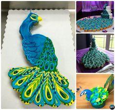 DIY Pull Apart Peacock Cupcake Cake-20 Gorgeous Pull Apart Cupcake Cake Designs For Any Party