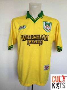 Retro WREXHAM 1994/95 Away Football Shirt (M) Soccer Jersey EN-S Yellow
