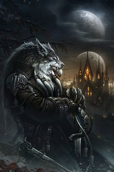 Hombre lobo, de Glowei