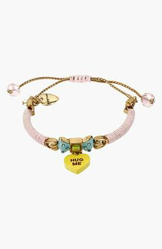 Betsey Johnson 'Vintage Bow - Hug Me' Adjustable Bracelet available at #Nordstrom