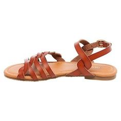 Girls' Mindy Braided Slide Sandals Cat & Jack - Tan 13