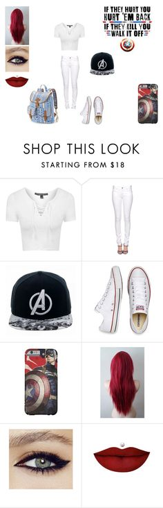 """Avengers, Assemble!!"" by wolfie-girl1999 ❤ liked on Polyvore featuring Topshop, Quiksilver, Citizens of Humanity, Marvel Comics, Converse, Anastasia Beverly Hills and Candie's"