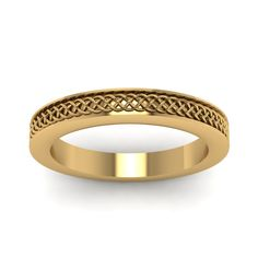 Shop intertwined engraved wedding band in yellow gold at Fascinating Diamonds. This Wedding Ring is simply designed to suit your persona. Indian Wedding Rings, Gold Wedding Jewelry, Wedding Rings For Women, Wedding Ring Bands, Bridal Jewelry, Gold Jewelry, Jewellery, Gold Coin Ring, Gold Rings