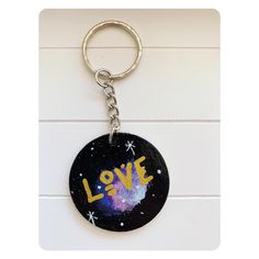 Excited to share this item from my #etsy shop: Hand Painted Cosmic love Keychain Love Keychain, Keychains, Cosmic, Hand Painted, Hands, Etsy Shop, Personalized Items, Earrings, Painting