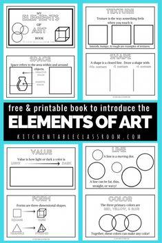 Elements Of Art Line, Formal Elements Of Art, Middle School Art, Art School, High School, Modulo 2, Art Handouts, Art Rubric, Art Worksheets