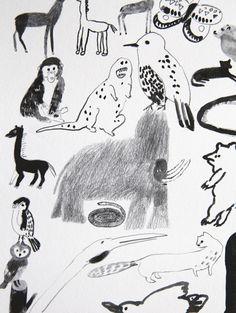 MOO MOO WOOF WOOF poster - Laura Carlin and Chie Miyazaki.