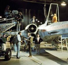 Filming X-Wings in the Rebel Base on Star Wars