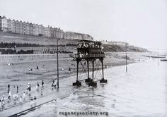 From the amazing regency collection of Brighton photos. The Volks Railway  http://regencysociety-jamesgray.com