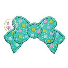 """Bow Applique Design In Sizes and Shown with our """"Naural Circle"""" font Name Embroidery, Machine Embroidery Applique, Embroidery Fonts, Embroidery Patterns, Circle Font, Diy Patches, Vinyl Designs, Design Show, Applique Designs"""