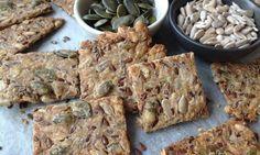 Semínkové krekry Healthy Cookies, Healthy Snacks, Healthy Eating, Low Carb Recipes, Vegan Recipes, Cooking Recipes, Vegan Food, Healthy Salt, Souffle Recipes