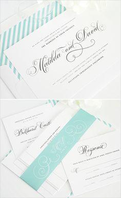 minted wedding invites  #mintwedding #shineinvitations #striped invitations http://www.weddingchicks.com/2014/01/14/shine-wedding-invitations/