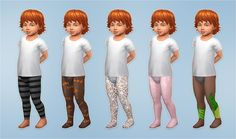 Lana CC Finds - Spooky Leggings and Tights for Toddlers