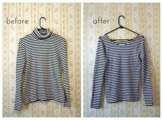 Convierte los cuellos de tortuga para que puedas estrenar nueva blusa este verano. #recicla #ropa #diy