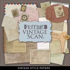 Far Far Hill: New Freebies Kit - Vintage Style Papers