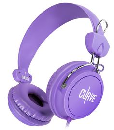 Sentey® Headphone Curve (Purple) with 3.5 Mm Audio Cable That Includes In-line Microphone and Controls