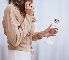 Equa-Bottiglia in vetro borosilicato Infinity da 550 ml