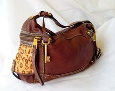 1c74bc0b2814 Available   TrendTrunk.com Brown and Leopard Fossil Bag. By Fossil. Only  33