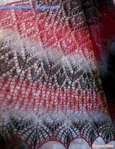 ". Шаль""Медовый бархат"" и МК, как и обещала. Опубликовала vaulinagolushko в группе Вязание. СМ. Knitted Shawls, Doilies, Blanket, Knitting, Crochet, Crafts, Patterns, Ideas, Knit Shawls"