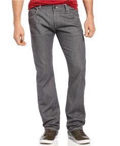 Armani Jeans Straight Leg Jeans, Clean Look - Jeans - Men - Macys