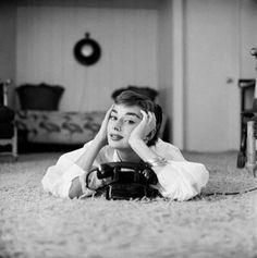 Audrey Hepburn by Mark Shaw, December 1953