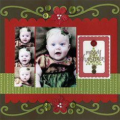 Merry Christmas Bazzill Layout Idea
