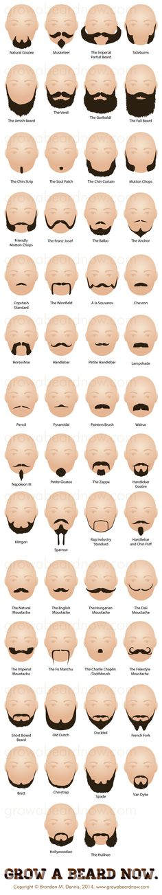 54 Facial Hair Styles - A new collection of all the beard styles known to man. | Physical Description