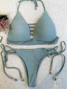 Sumir superior del bikini y tanga del bikini Bottoms