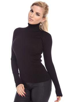 black sweaters#rib knit sweaters#turtleneck sweaters#long sleeve sweaters#women sweater top#pullover sweater#sexy sweater#cheap sweater