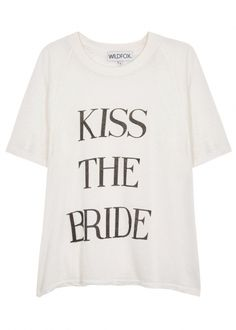 Kiss The Bride cotton blend T-shirt - Wildfox New in from Harvey Nichols