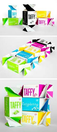 Sweet's Taffy Twist Packaging by Peder Singleton, via Behance PD