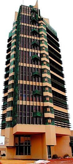 Frank Lloyd Wright's Price Tower in Bartlesville, Oklahoma