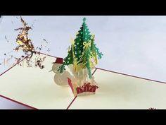 KAILIZ Snowman and Christmas Tree 3D Christmas Card