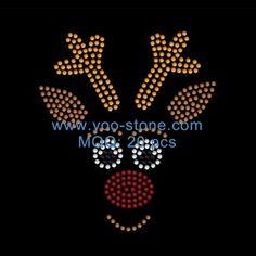 Fashion New Trends Transfer Motifs Wholesale, Deer Head Rhinestone Design