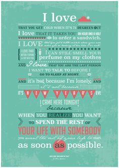 When Harry Met Sally Poster Movie romantic quote by PeanutoakPrint