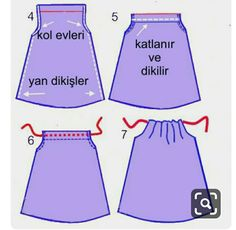 Dressmaking techniques for children Sewing Dolls, Sewing Clothes, Sewing For Kids, Baby Sewing, Baby Dress Design, Baby Dress Patterns, Diy Dress, Baby Girl Dresses, Sewing Techniques