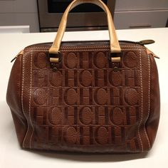 024e61ca8008 xmas SALECarolina Herrera Andy bag!!!! Gorgeous brown leather bag in good  condition