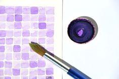 studio colore viola #illustrazione #acquerello #viola