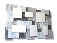 "Glass and Metal Wall Sculpture ""Glacial"", Abstract, Modern Design, Wall Art Geometric Minimalist Metal Wall Sculpture, Steel Sculpture, Abstract Sculpture, Sculpture Art, Abstract Art, Unique Wall Decor, Metal Wall Decor, Behind The Glass, Wind Sculptures"
