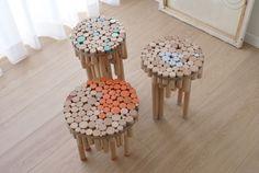 """""""Рубленые"""" стулья / Мебель /"""
