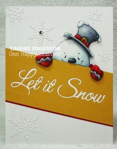 One Happy Stamper...: CAS345  -  LET IT SNOW