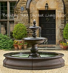 Your outdoor living space is essentially an extension of your home, so it just makes sense to turn your patio and yard into a second living room. This is easily accomplished with the fountains we have here at Outdoor Fountain Pros. Whether you are shopping for solar-powered outdoor water features for your garden and flowerbeds or a modern cast stone one to be the focal point of your patio or deck you are sure to find exactly what you are looking for here.