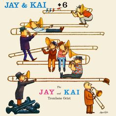 Columbia Records and the pioneers of jazz album cover design. Notes and pictures from Birka Jazz Archive. Trombone, Classic Jazz, Band Nerd, Jazz Art, Pochette Album, Music Illustration, Lp Cover, Cover Art, Album Cover Design