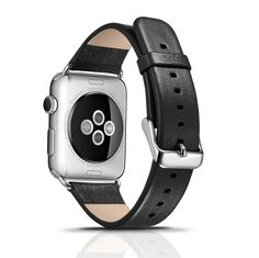 BonTech Luxury Genuine Leather Series Watchband with Metal Buckle For Apple Watch (42mm Black) * To view further, visit now : Travel Gadgets