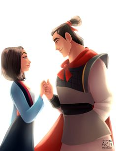 Most badass disney couple. And surprisingly this has the most liked among the other disney prince/princess couple i did. I thought Charming & Cinderlla would be on top. Disney Pixar, Walt Disney, Disney Animation, Disney Couples, Disney Fan Art, Disney And Dreamworks, Disney Magic, Disney Characters, Disney Movies